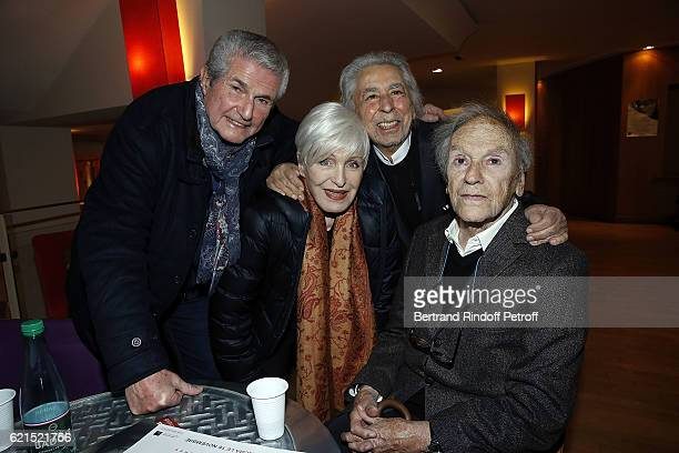 Director Claude Lelouch Singer Nicole Croisille Musician Francis Lai and Actor JeanLouis Trintignant attend 'Un Homme et Une Femme' screening for its...