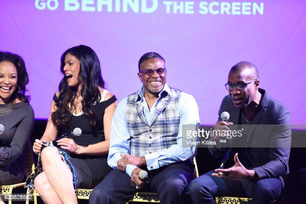 Director Clement Virgo speaks during QA for 'Greenleaf' on Day Three of aTVfest 2017 presented by SCAD at SCADshow Stage 2 on February 4 2017 in...