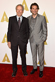 Director Clint Eastwood and actor Bradley Cooper attend the 87th Annual Academy Awards Nominee Luncheon at The Beverly Hilton Hotel on February 2...