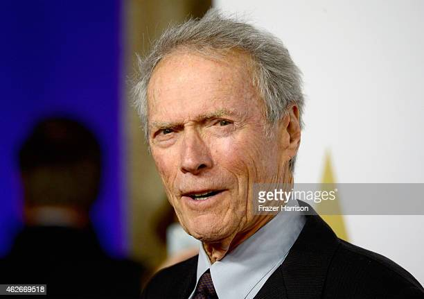 Director Clint Eastwood attends the 87th Annual Academy Awards Nominee Luncheon at The Beverly Hilton Hotel on February 2 2015 in Beverly Hills...
