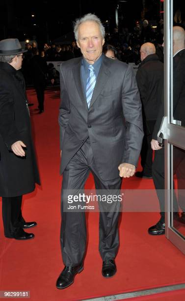 Director Clint Eastwood attends the 'Invictus' film premiere at the Odeon West End on January 31 2010 in London England
