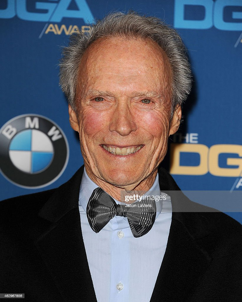 Director <a gi-track='captionPersonalityLinkClicked' href=/galleries/search?phrase=Clint+Eastwood&family=editorial&specificpeople=201795 ng-click='$event.stopPropagation()'>Clint Eastwood</a> poses in the press room at the 67th annual Directors Guild of America Awards at the Hyatt Regency Century Plaza on February 7, 2015 in Los Angeles, California.