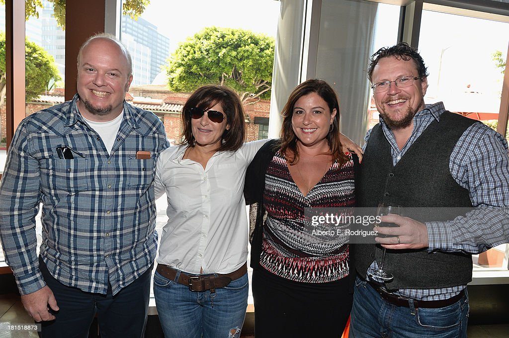 Director Cody Cameron, Co Chairman of Sony Pictures Entertainment Amy Pascal, Sony Pictures Animations' Michelle Raimo Kouyate and director Kris Pearn attend the after party for the premiere of Columbia Pictures and Sony Pictures Animation's 'Cloudy With A Chance Of Meatballs 2' at The Napa Valley Grille on September 21, 2013 in Westwood, California.