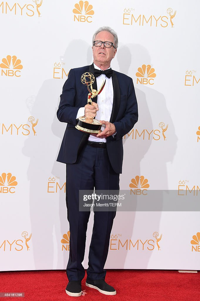 Director Colin Bucksey, winner of the Outstanding Directing for a Miniseries, Movie or a Dramatic Special Award for 'Fargo' poses in the press room during the 66th Annual Primetime Emmy Awards held at Nokia Theatre L.A. Live on August 25, 2014 in Los Angeles, California.