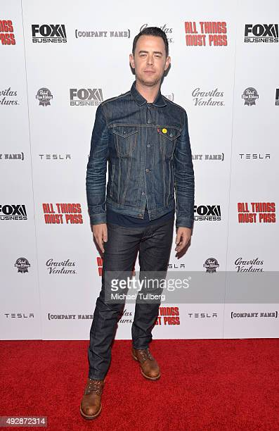 Director Colin Hanks attends the premiere of Gravitas Ventures' new Tower Records documentary 'All Things Must Pass' at Harmony Gold Theatre on...
