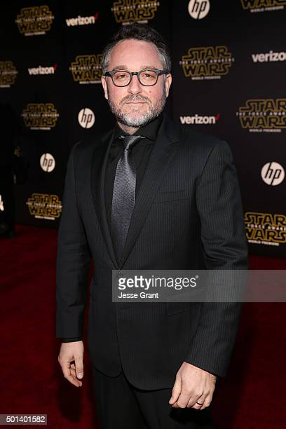 "Director Colin Trevorrow attends the World Premiere of ""Star Wars The Force Awakens"" at the Dolby El Capitan and TCL Theatres on December 14 2015 in..."