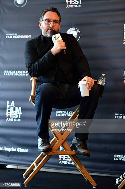 Director Colin Trevorrow speaks onstage at Coffee Talks Directors during the 2015 Los Angeles Film Festival at the Courtyard Marriott at LA Live on...
