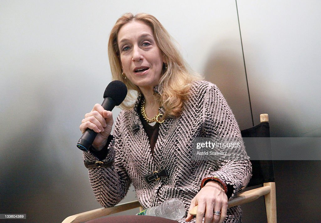 Director Constance Marks talks inside the Apple Store Upper West Side on November 20, 2011 in New York City.