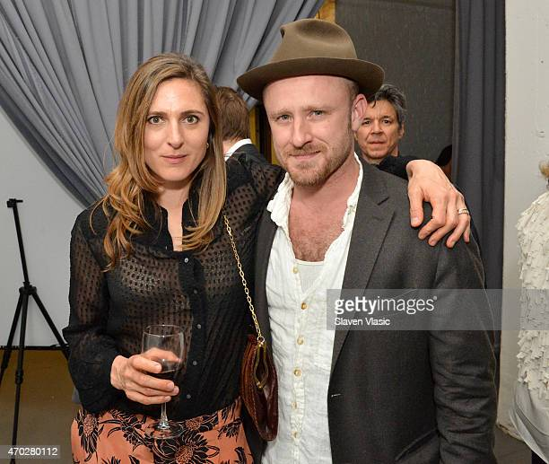 Director Cosima Spender and actor Ben Foster attend the after party for the World Premiere of 'Palio' at DIA Chelsea on April 18 2015 in New York City