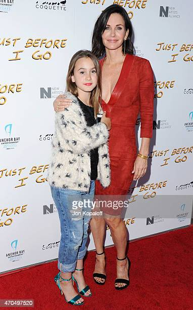 Director Courteney Cox and daughter Coco Arquette arrive at the Los Angeles Special Screening of 'Just Before I Go' at ArcLight Hollywood on April 20...