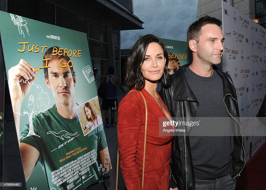 Director Courteney Cox and musician Johnny McDaid attend the Los Angeles Special Screening of 'Just Before I Go' at ArcLight Hollywood on April 20...