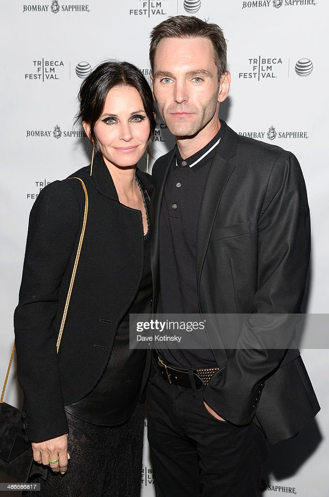 Director <a gi-track='captionPersonalityLinkClicked' href=/galleries/search?phrase=Courteney+Cox&family=editorial&specificpeople=203101 ng-click='$event.stopPropagation()'>Courteney Cox</a> (L) and Musician <a gi-track='captionPersonalityLinkClicked' href=/galleries/search?phrase=Johnny+McDaid+-+Musicien&family=editorial&specificpeople=12322239 ng-click='$event.stopPropagation()'>Johnny McDaid</a> attend the official after party for <a gi-track='captionPersonalityLinkClicked' href=/galleries/search?phrase=Courteney+Cox&family=editorial&specificpeople=203101 ng-click='$event.stopPropagation()'>Courteney Cox</a>'s directorial debut 'Just Before I Go' hosted by BOMBAY SAPPHIRE Gin at The Flatiron Room on April 24, 2014 in New York City.