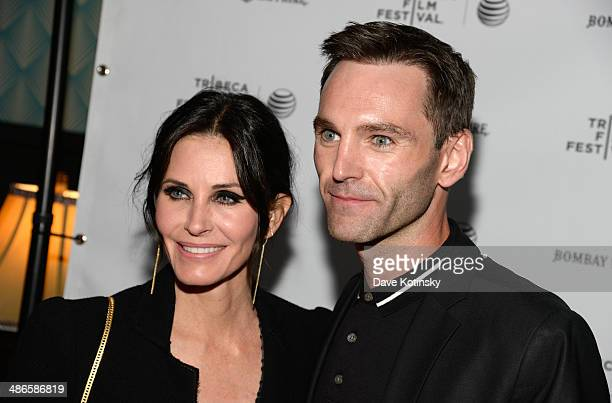 Director Courteney Cox and Musician Johnny McDaid attend the official after party for Courteney Cox's directorial debut 'Just Before I Go' hosted by...