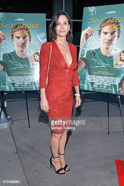 Director Courteney Cox attends a screening of Anchor Bay Entertainment's film 'Just Before I Go' at ArcLight Hollywood on April 20 2015 in Hollywood...