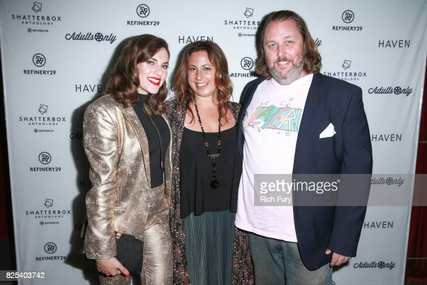 Director Courtney Hoffman producer Jordana Mollick and actor Jason Boggs attend Refinery29's Shatterbox Anthology premiere of Courtney Hoffman's 'The...