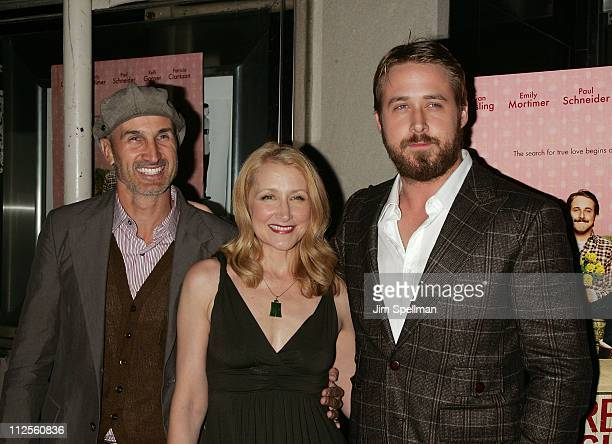 Director Craig Gillespie Actors Patricia Clarkson and Ryan Gosling arrives at 'Lars and the Real Girl' premiere at the Paris Theater on October 3...