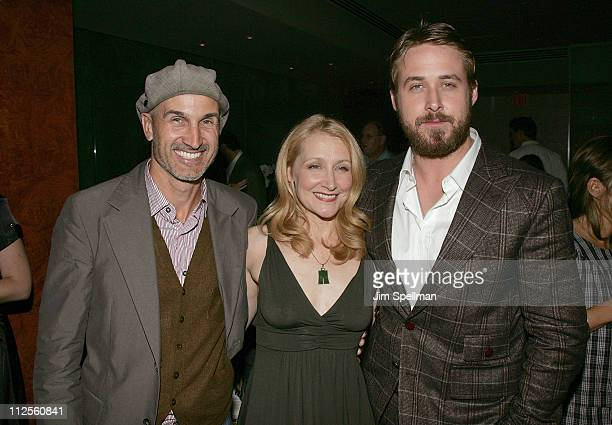 Director Craig Gillespie Actors Patricia Clarkson and Ryan Gosling attend the 'Lars and the Real Girl' Premiere After Party at The Brasserie 8 1/2 on...