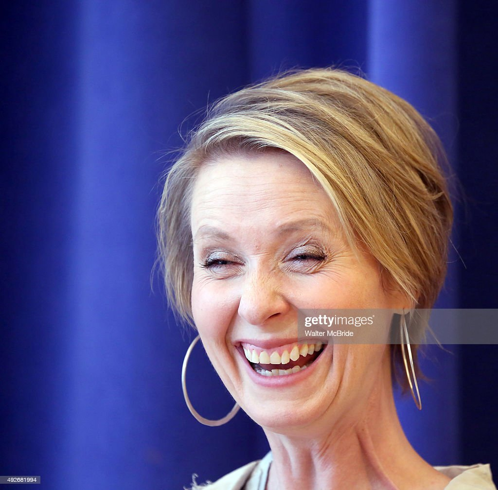 Director Cynthia Nixon attends the photo call for the cast of the of New Group World Premiere production of the Mark Gerrard play 'Steve' at the New...