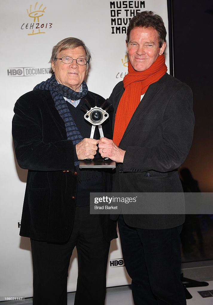 Director <a gi-track='captionPersonalityLinkClicked' href=/galleries/search?phrase=D.A.+Pennebaker&family=editorial&specificpeople=660590 ng-click='$event.stopPropagation()'>D.A. Pennebaker</a> (L) and son Frazer Pennebaker attend 6th Annual Cinema Eye Honors For Nonfiction Filmmaking at Museum of the Moving Image on January 9, 2013 in New York City.