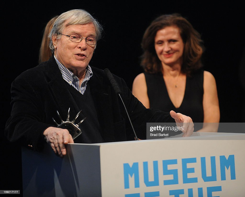 Director <a gi-track='captionPersonalityLinkClicked' href=/galleries/search?phrase=D.A.+Pennebaker&family=editorial&specificpeople=660590 ng-click='$event.stopPropagation()'>D.A. Pennebaker</a> and Wendy Ettinger attends 6th Annual Cinema Eye Honors For Nonfiction Filmmaking at Museum of the Moving Image on January 9, 2013 in New York City.