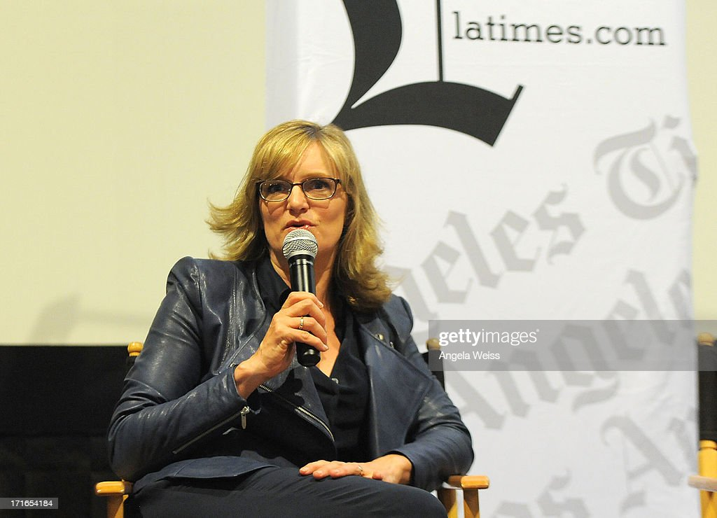Director Daisy von Scherler Mayer participates in a Q&A following the premiere of 'Some Girl(s)' at Laemmle NoHo 7 on June 26, 2013 in North Hollywood, California.