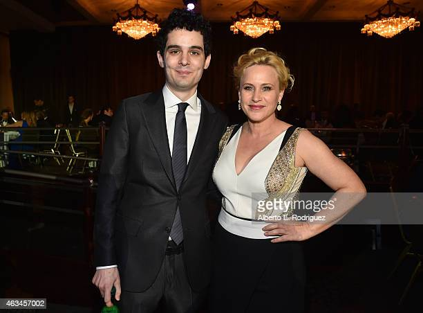Director Damien Chazelle and actress Patricia Arquette attend the 2015 Writers Guild Awards LA Ceremony at the Hyatt Regency Century Plaza on...