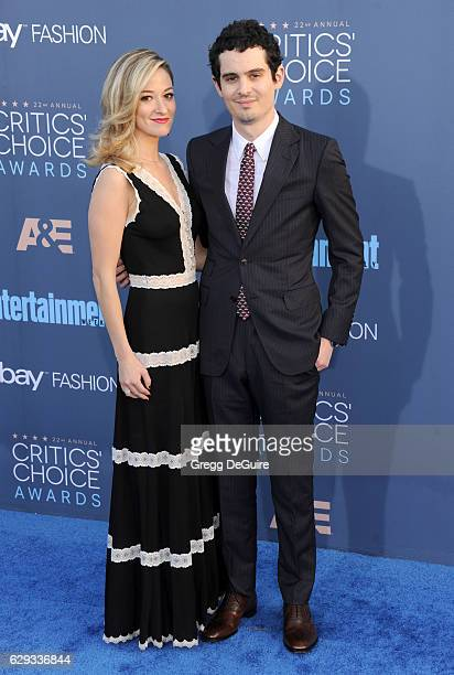 Director Damien Chazelle and Olivia Hamilton arrive at The 22nd Annual Critics' Choice Awards at Barker Hangar on December 11 2016 in Santa Monica...