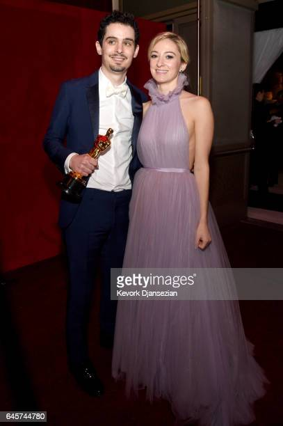 Director Damien Chazelle and Olivia Hamilton attend the 89th Annual Academy Awards Governors Ball at Hollywood Highland Center on February 26 2017 in...