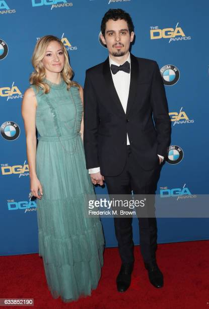 Director Damien Chazelle and Producer Olivia Hamilton attend the 69th Annual Directors Guild of America Awards at The Beverly Hilton Hotel on...