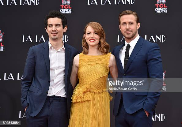 Director Damien Chazelle attends the ceremony honoring actors Emma Stone and Ryan Gosling with Hand and Footprint Ceremony on behalf of Lionsgate's...
