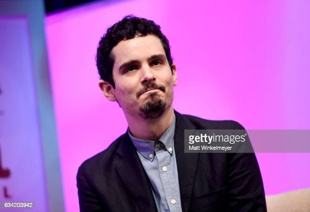 Director Damien Chazelle of 'La La Land' speaks onstage at the Outstanding Director's Award during the 32nd Santa Barbara International Film Festival...