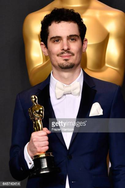 Director Damien Chazelle winner of Best Director for 'La La Land' poses in the press room during the 89th Annual Academy Awards at Hollywood Highland...