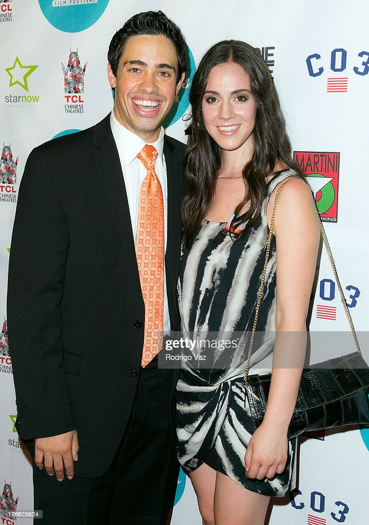 Director Dan Carillo (L) and actress Rossana Torneo attend the 9th Annual HollyShorts Film Festival Opening Night Arrivals at TCL Chinese Theatre on August 15, 2013 in Hollywood, California.