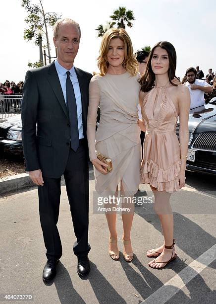 Director Dan Gilroy actress Rene Russo and actress Emmy Rossu attend the 2015 Film Independent Spirit Awards at Santa Monica Beach on February 21...