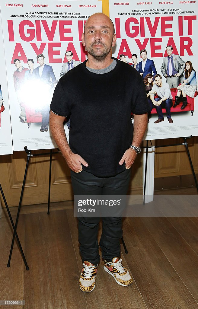 Director Dan Mazer arrives at 'I Give It A Year' Special New York Screening at 79 Crosby Street on July 30, 2013 in New York City.