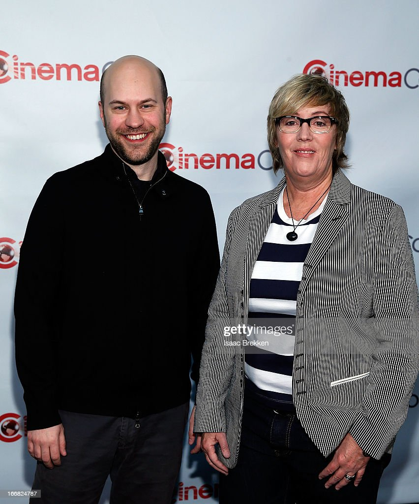Director Dan Scanlon (L) and producer Kori Rae arrive at The Walt Disney Studios Motion Pictures presentation to promote the upcoming animated film, 'Monsters University' at Caesars Palace during CinemaCon, the official convention of the National Association of Theatre Owners on April 17, 2013 in Las Vegas, Nevada.