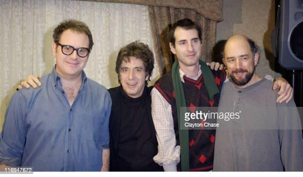 Director Daniel Algrant Al Pacino writer Jon Robin Baitz and Richard Schiff