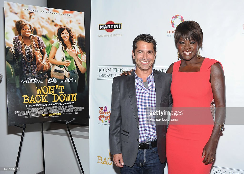Director Daniel Barnz and actress <a gi-track='captionPersonalityLinkClicked' href=/galleries/search?phrase=Viola+Davis&family=editorial&specificpeople=653789 ng-click='$event.stopPropagation()'>Viola Davis</a> attend the 'Won't Back Down' screening at NYIT Auditorium on August 3, 2012 in New York City.