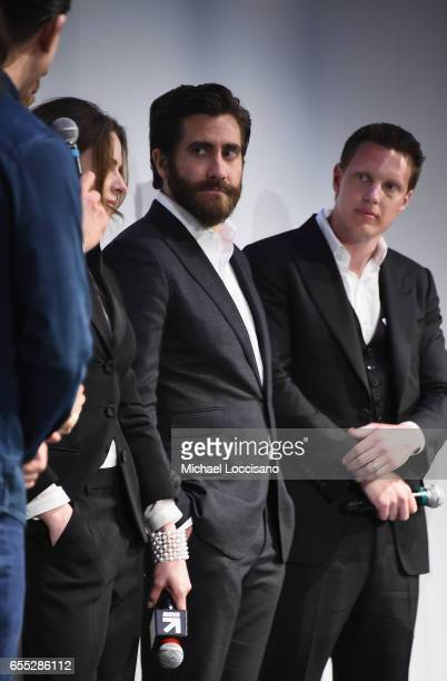 Director Daniel Espinosa actors Rebecca Ferguson and Jake Gyllenhaal and producer David Ellison attend the 'Life' premiere during 2017 SXSW...