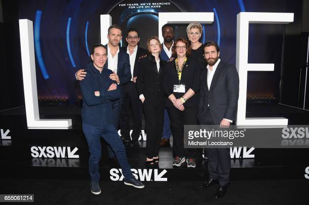 Director Daniel Espinosa actors Ryan Reynolds Hiroyuki Sanada Rebecca Ferguson and Ariyon Bakare SXSW Film Festival Director Janet Pierson and actors...