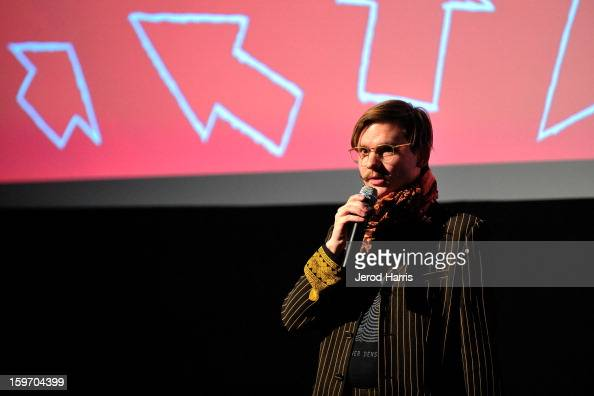 Director Daniel Hoesl speaks during...