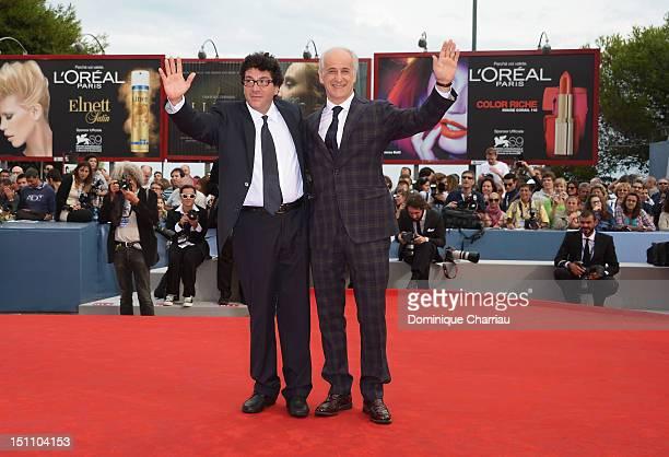 Director Daniele Cipri and actor Toni Servillo attend 'E' Stato Il Figlio' Premiere during the 69th Venice Film Festival at the Palazzo del Cinema on...
