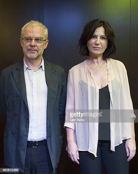 Director Daniele Luchetti and actress Mercedes Moran attend a photocall and press conference to announce the start of filming 'Call Me Francesco' at...