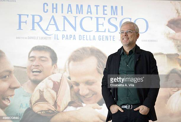 Director Daniele Luchetti attends a photocall for 'Call Me Francesco' at Cinema Adriano on November 26 2015 in Rome Italy
