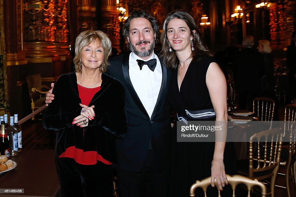 Director Daniele Thompson, Actor Guillaumre Gallienne and his wife Amandine attend Weizmann Institute celebrates its 40 Anniversary at Opera Garnier in Paris on January 12, 2015 in Paris, France.