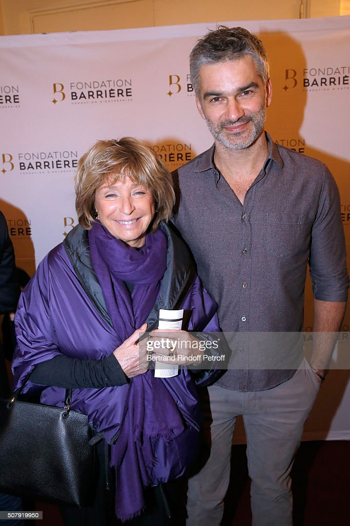 Director Daniele Thompson and Actor <a gi-track='captionPersonalityLinkClicked' href=/galleries/search?phrase=Francois+Vincentelli&family=editorial&specificpeople=5398185 ng-click='$event.stopPropagation()'>Francois Vincentelli</a> attend the Theater Price 2015 of Foundation Diane & Lucien Barriere, given to the Theater Piece 'Je vous ecoute'. Held at Theatre Tristan Bernard on February 1, 2016 in Paris, France.