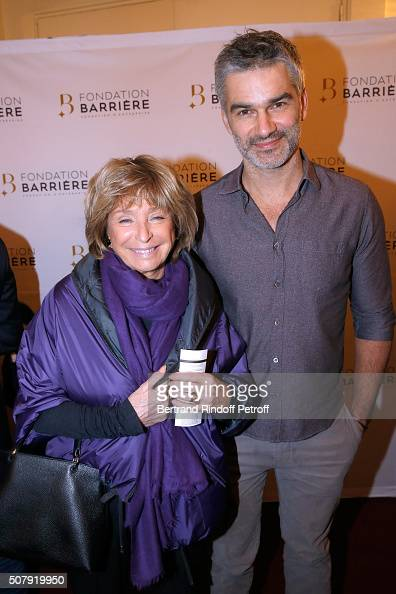 Director Daniele Thompson and Actor Francois Vincentelli attend the Theater Price 2015 of Foundation Diane Lucien Barriere given to the Theater Piece...
