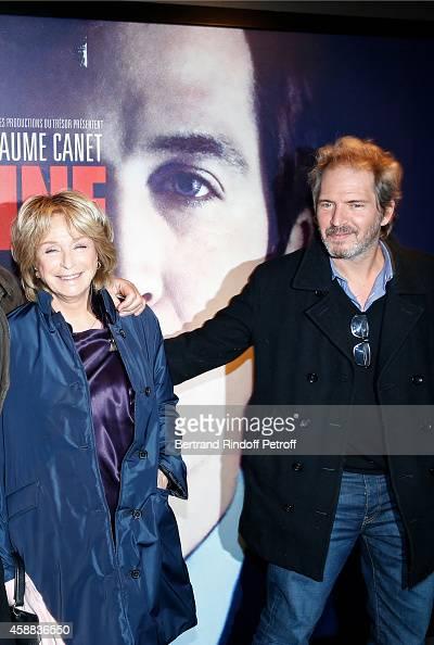 Director Daniele Thompson and her son actor Christopher Thompson attend the 'La prochaine fois je viserai le coeur' Paris Premiere at UGC Cine Cite...