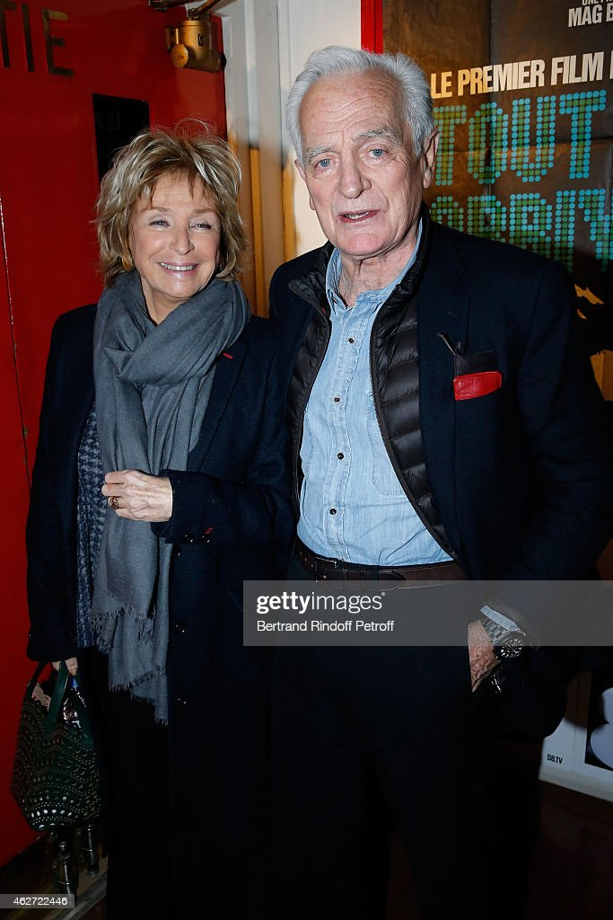 Director Daniele Thompson and Journalist and Director Philippe labro attend the Private Screening of the Movie 'Tout Peut Arriver' at Mac Mahon Cinema on February 3, 2015 in Paris, France. This film is the first film of Philippe Labro. It will be broadcast on the TV channel D8 Sunday, February 22, 2015
