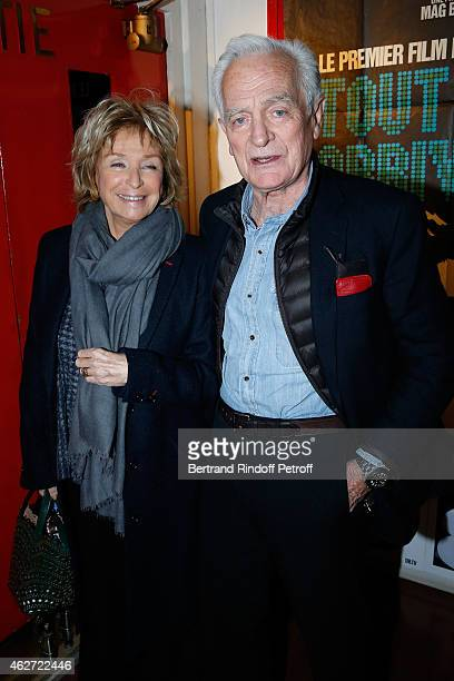 Director Daniele Thompson and Journalist and Director Philippe labro attend the Private Screening of the Movie 'Tout Peut Arriver' at Mac Mahon...